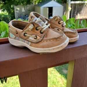 Sperry's Velcro Loafers Size 6 Toddler